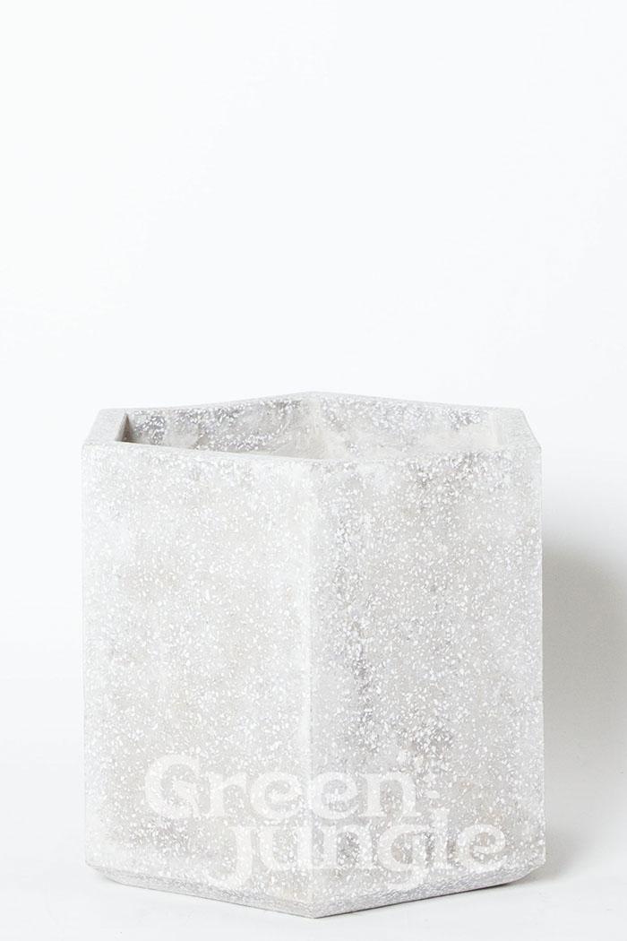 鉢カバー コーテスヘックス グレーテラゾ(8号鉢)