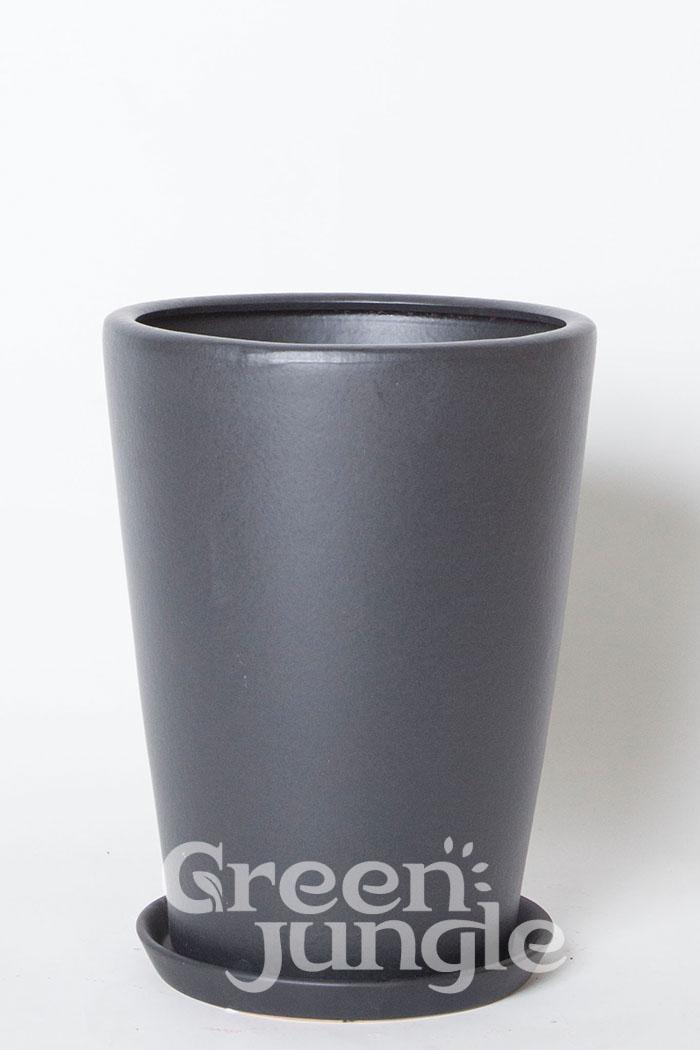 鉢カバー モダンPR1 ブラック(8号鉢用)