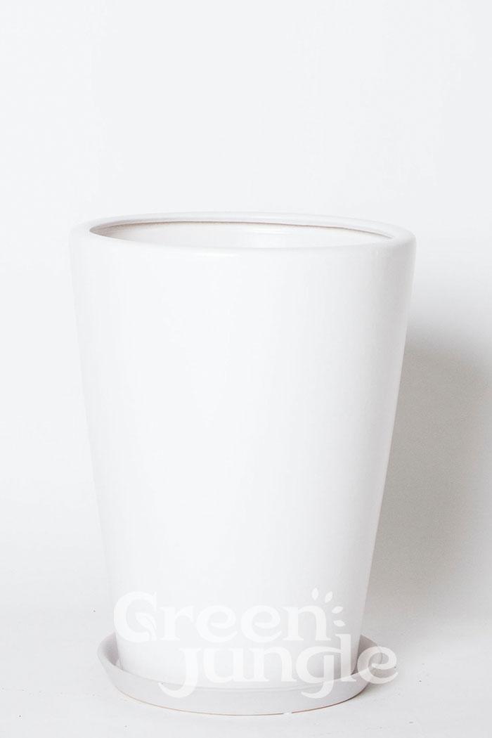 鉢カバー モダンPR1 ホワイト(10号鉢)