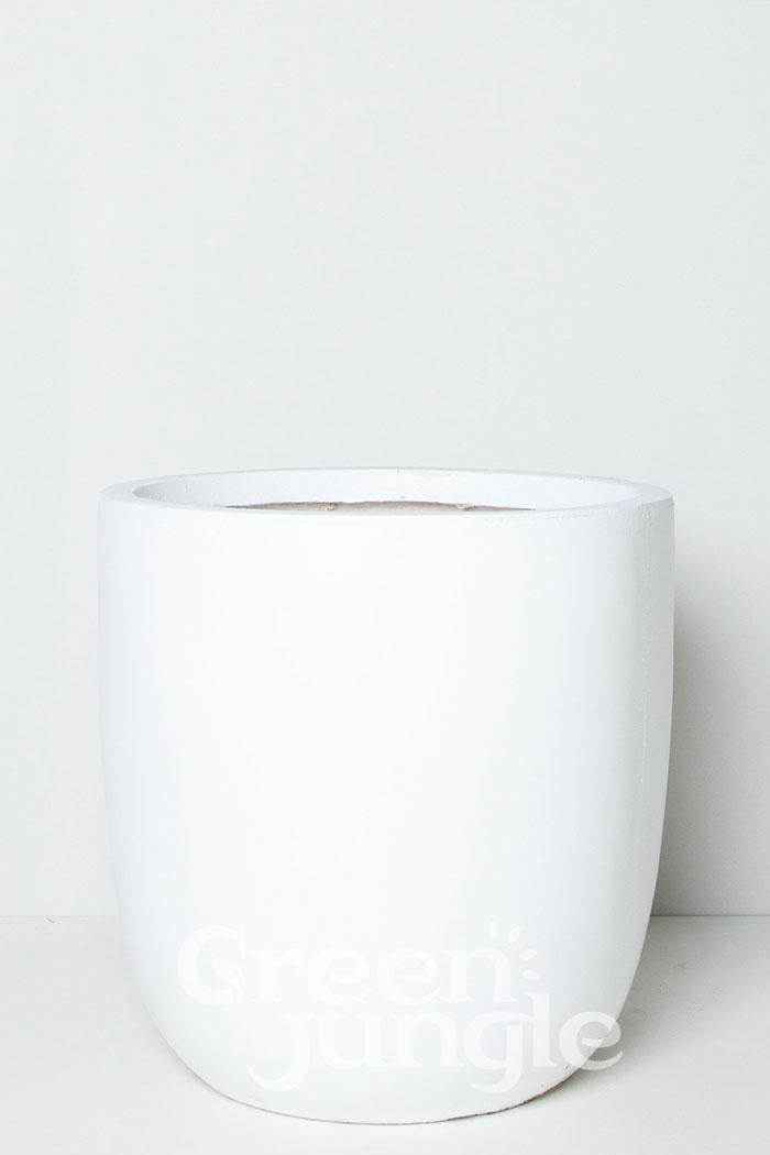 鉢カバー バスク ラウンド ホワイト(10号鉢)