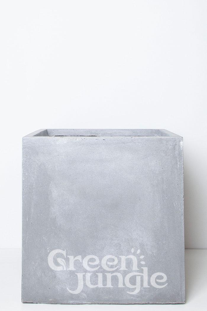 鉢カバー バスク キューブ グレー(10号鉢)