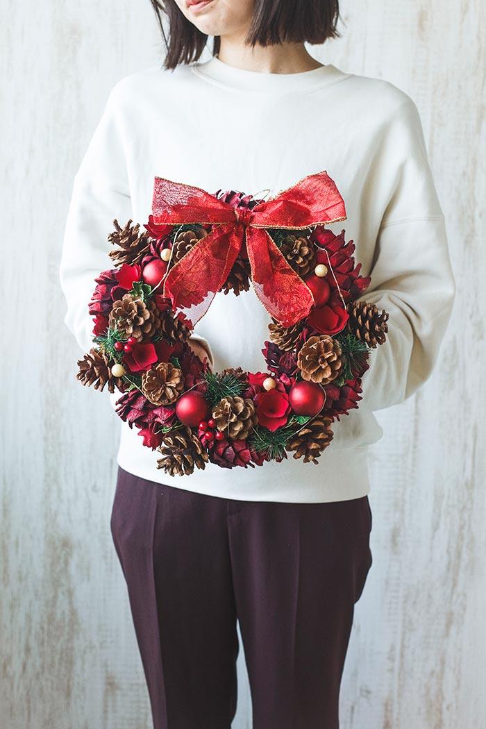 クリスマスリース M #519