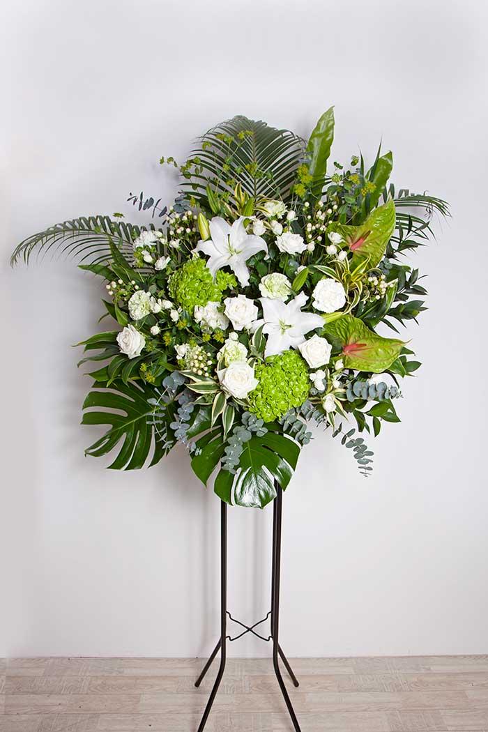 季節のスタンド花 1段 ホワイトグリーン #072