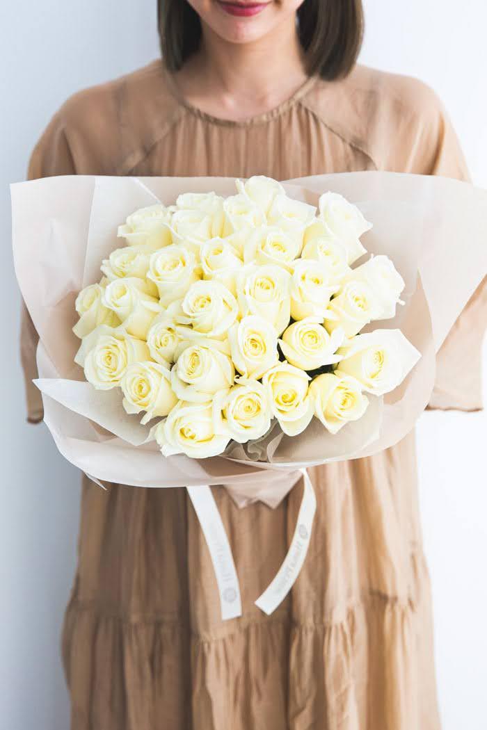 花束 ローズブーケ 国産バラ30本  #683 size:120