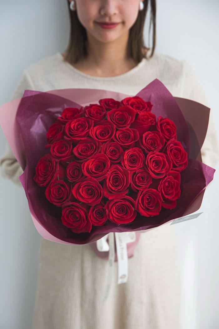花束 ローズブーケ国産バラ 30本  #693 size:120