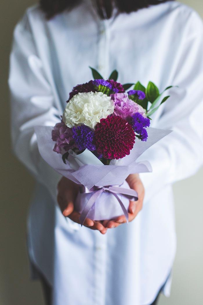 そのまま飾れる花束 お供え花・お悔みの献花 #719 size:60