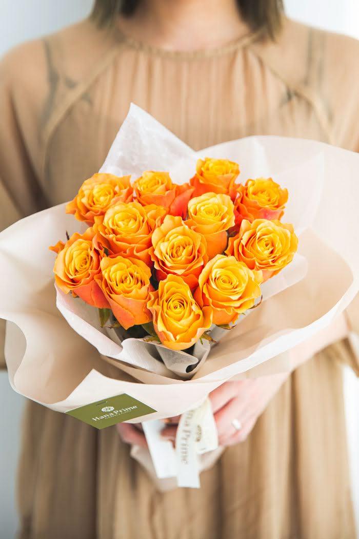 花束 ローズブーケ国産バラ 12本 #748 size:80