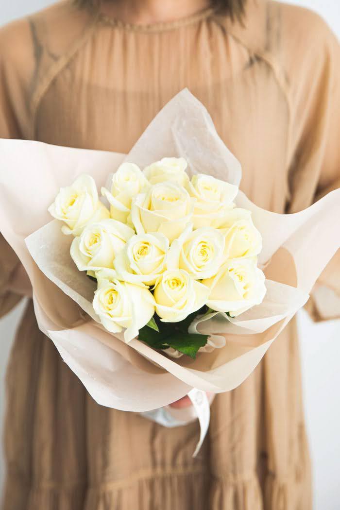 花束 ローズブーケ国産バラ 12本 #749 size:80