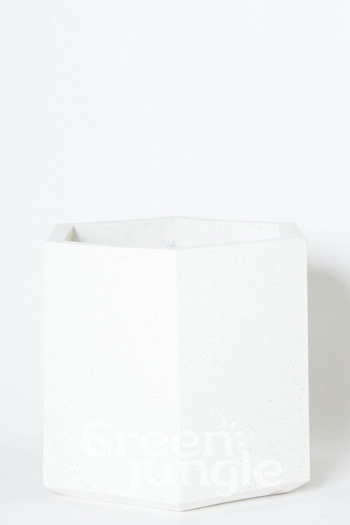 鉢カバー コーテスヘックス ホワイトテラゾ(8号鉢)
