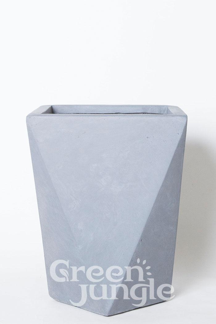 鉢カバー ポリゴデルタ グレー(10号鉢用)