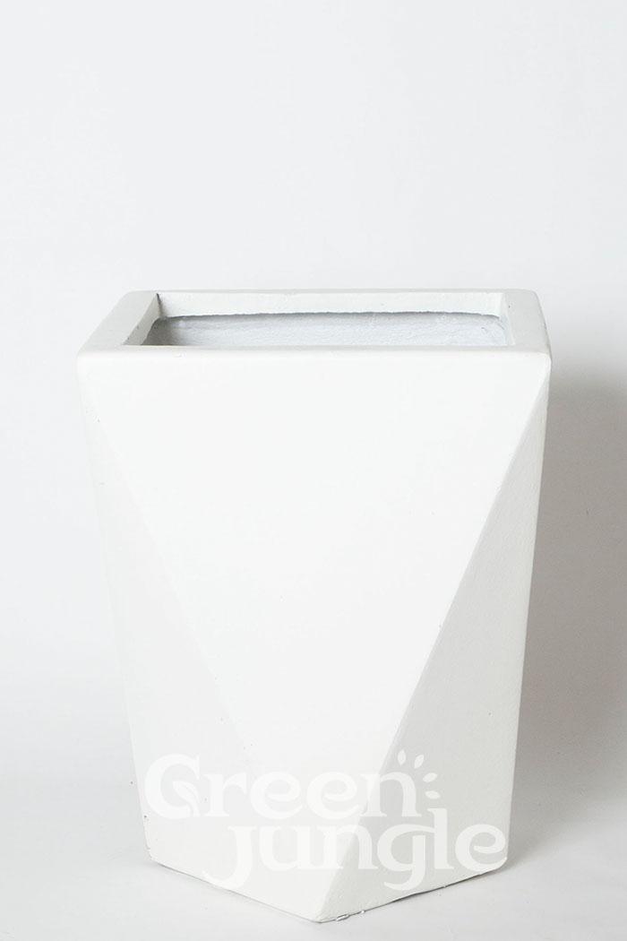 鉢カバー ポリゴデルタ ホワイト(10号鉢用)