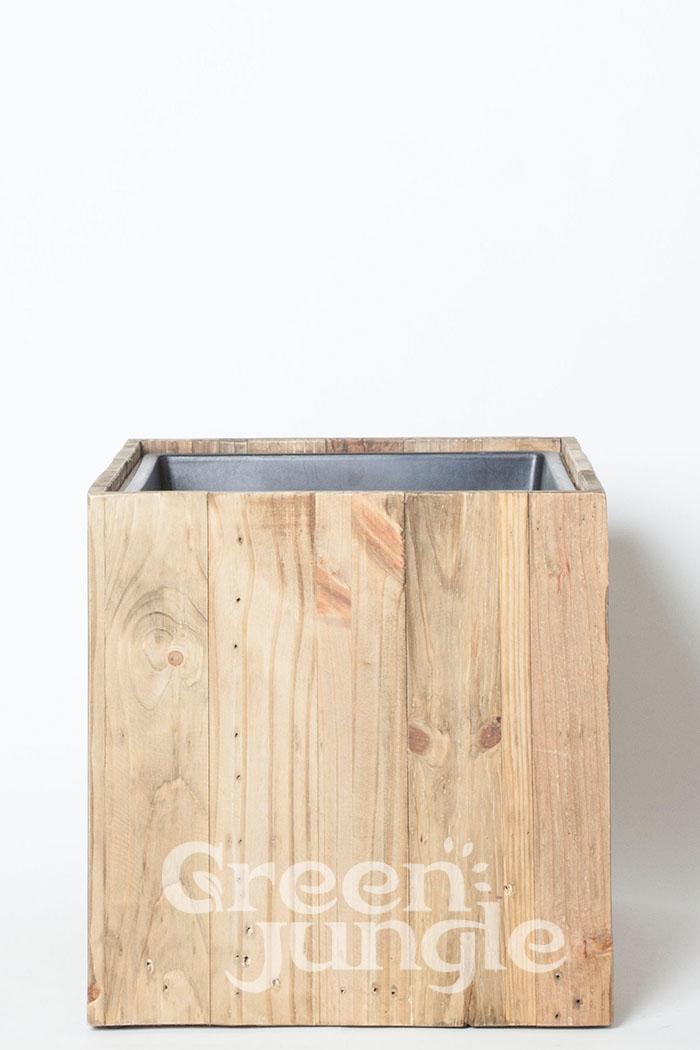 鉢カバー リサイクル ウッドキューブ(8号鉢用)